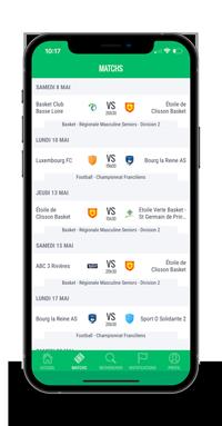 Application Score'n'co dans un iPhone